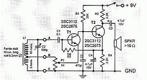 Two Transistor Am Radio Receiver Circuit