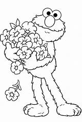 Coloring Pages Elmo sketch template