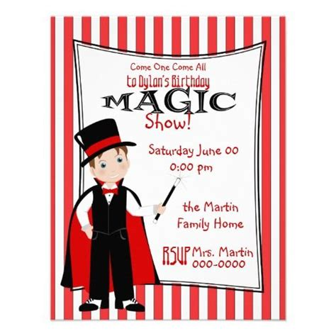 magic show invitation zazzlecom magic show magic