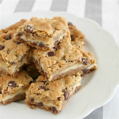 chocolate chip cheesecake cookie bars recipe fabulessly