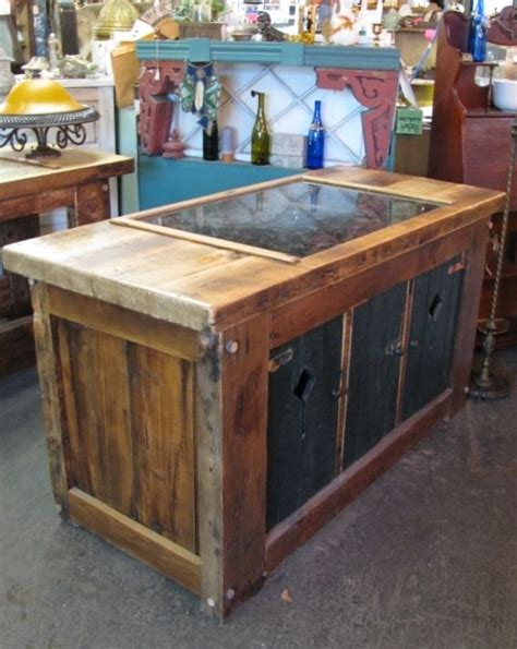 salvaged wood kitchen island custom made kitchen island from vintage reclaimed wood