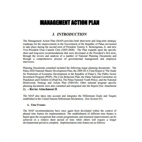 strategic action plan templates docs