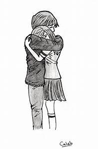 people hugging by azuk42 on DeviantArt