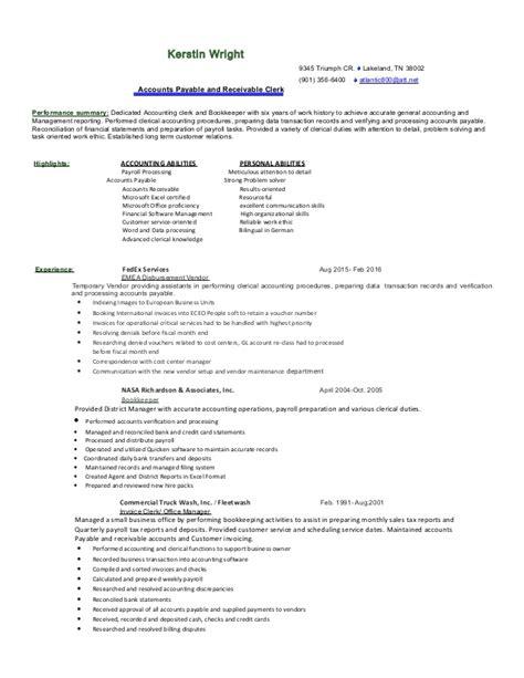 accounting resume 2016