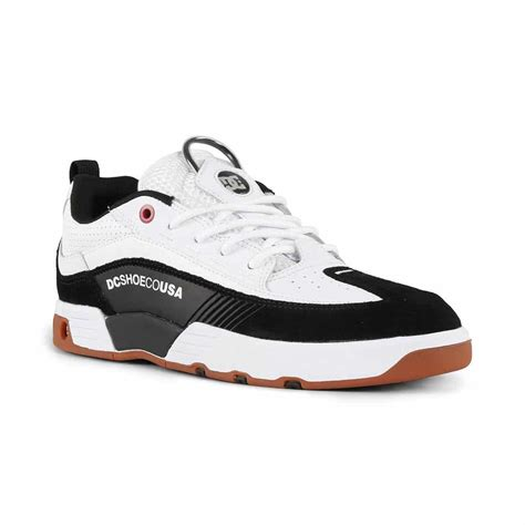 dc shoes legacy  slim  white athletic red black
