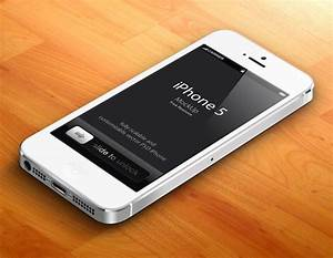 Free White 3D iPhone 5 Psd Vector Mockup by Pixeden on ...