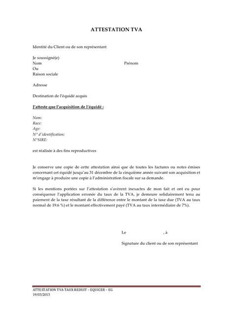 paiement de la tva 2013 03 19 attestation tva reproducteur pdf par ag61700 fichier pdf