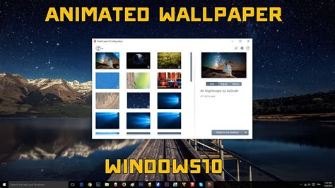 How To Use Animated Wallpaper Windows 10 - windows 10 animated wallpaper tutorial