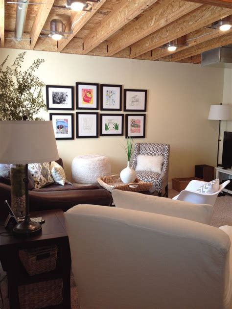 How To Decorate Basement Walls - best 25 unfinished basement walls ideas on