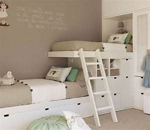 Kleines Kinderzimmer Ideen : kleines kinderzimmer mit hoch oder etagenbett einrichten freshouse ~ Orissabook.com Haus und Dekorationen