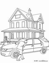 Coloring Pages Garage Convertible Crash Drawing Getcolorings Printable Paintingvalley sketch template