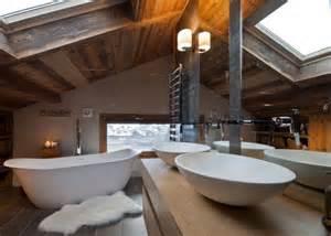 salle de bain chalet de montagne d 233 co luxueuse et raffin 233 e