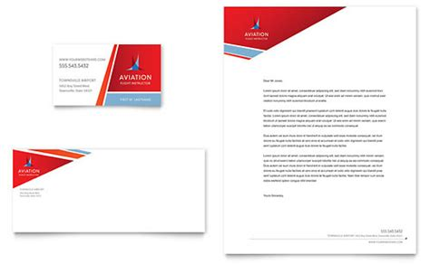 Aviation Flight Instructor Business Card & Letterhead