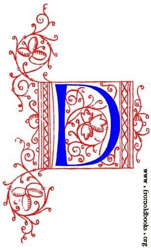 picture decorative initial letter   fifteenth century nos    letter