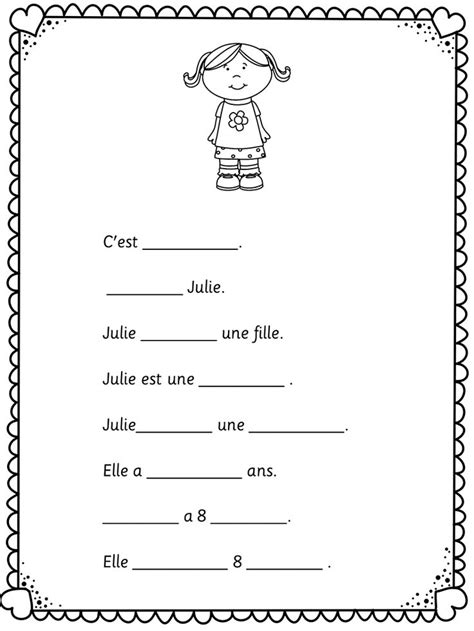 10 Best Images of Easy French Worksheets - Printable ...