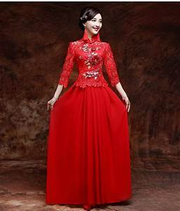 chinese traditional wedding dress toast cheongsam bride With best chinese wedding dress website