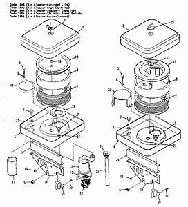 Air Cleaner Diagram  U0026 Parts List For Model 110342402 Onan