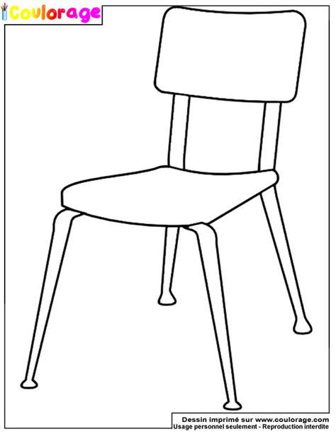 dessin d une chaise coulorage dessin et coloriage de chaise 224 imprimer
