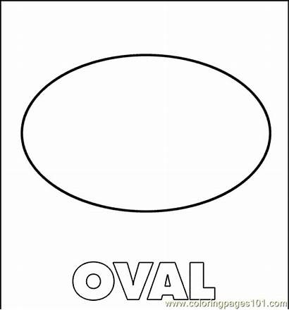 Oval Coloring Shapes Printable Pages Coloringpages101