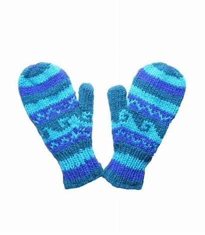 Mittens Gloves Clipart Woolen Woollen Stripe Horizontal