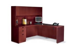 executive laminate l shape office desk with hutch ebay