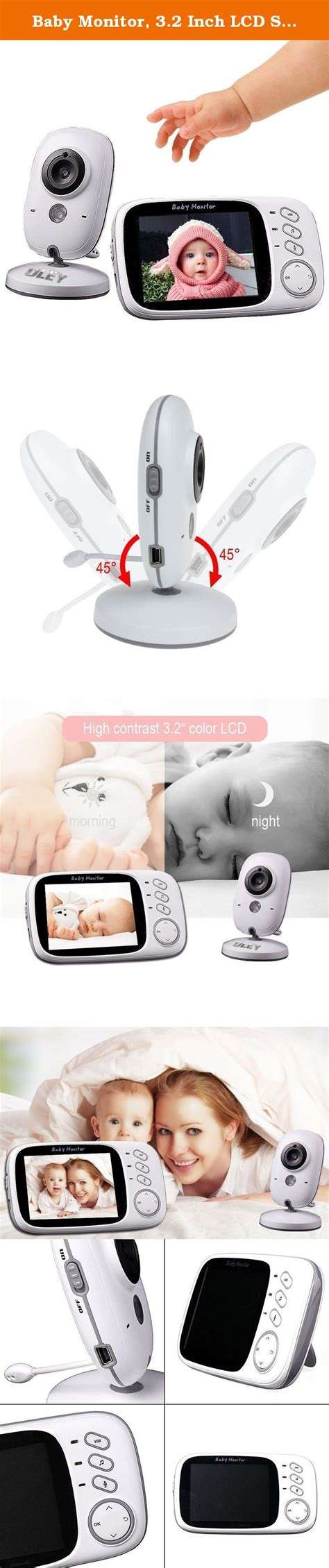 Baby Monitor, 3.2 Inch LCD Screen/Smart Camera 2.4GHz ...