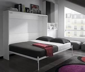Lit Ikea 2 Personnes : armoire lit escamotable fleet couchage 2 personnes lit ~ Teatrodelosmanantiales.com Idées de Décoration