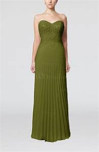 olive green elegant column sweetheart sleeveless backless With backless wedding guest dresses