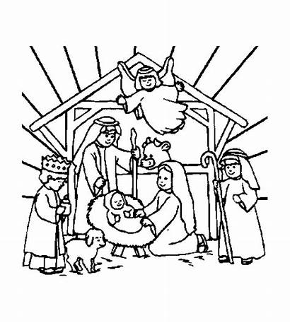 Coloring Christmas Pages Bible Religious Nativity Christian