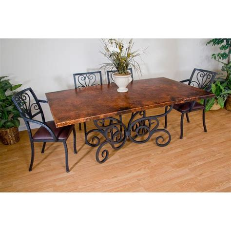 dining room sets wrought iron dining table and arm chairs by