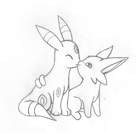Espeon + Umbreon Love by sunnyfish on DeviantArt
