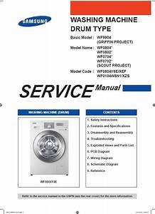 Samsung Wf0804y8e Wf0104w8n1 Washing Machine Service M