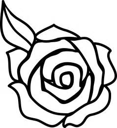 Simple Black and White Rose Clip Art