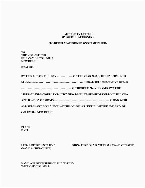 Power Of attorney Resignation Letter Template Collection | Letter Cover Templates