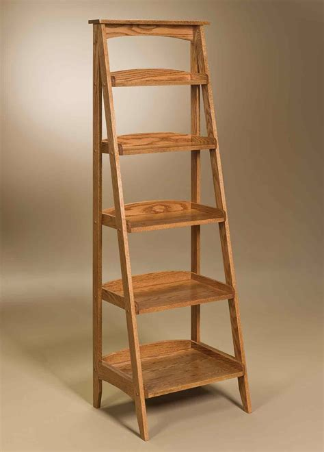 decorating attractive leaning ladder shelf  middle