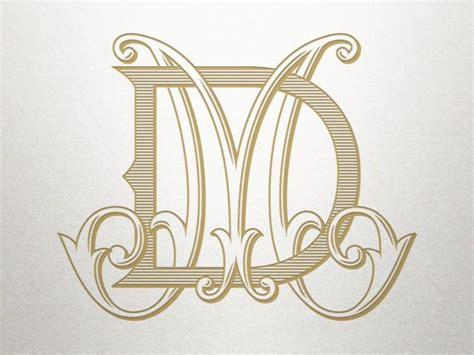antique monogram alphabet dm md antique monogram digital monogram alphabet monogram tattoo