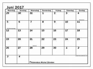 Kalender Juni 2017 Zum Ausdrucken : juni 2017 printbare kalender feestdagen belgi julius ~ Whattoseeinmadrid.com Haus und Dekorationen