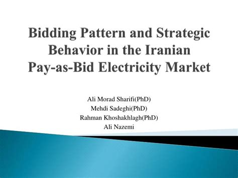 pay to bid ppt bidding pattern and strategic behavior in the