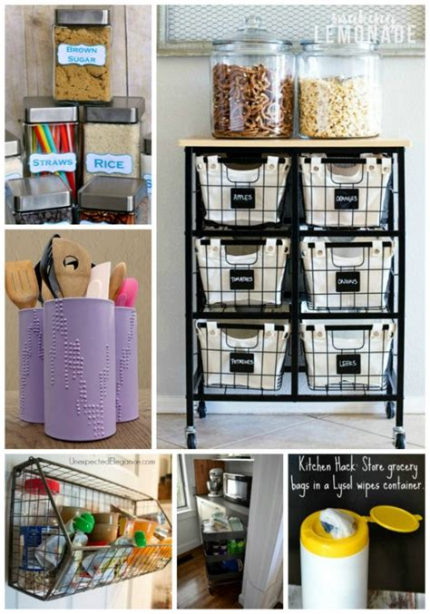 30 Genius Kitchen Storage Hacks + Ideas  Making Lemonade
