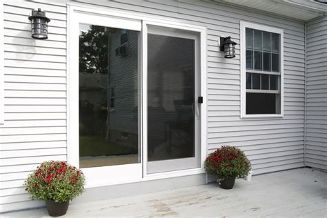 upgrading to a new energy efficient sliding glass door