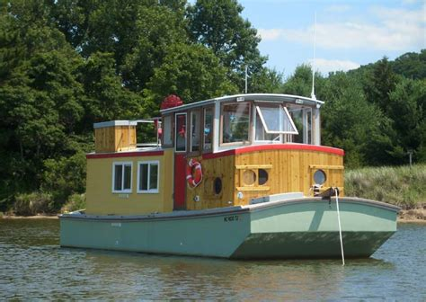 Wooden Houseboat Plans by Houseboat Plans