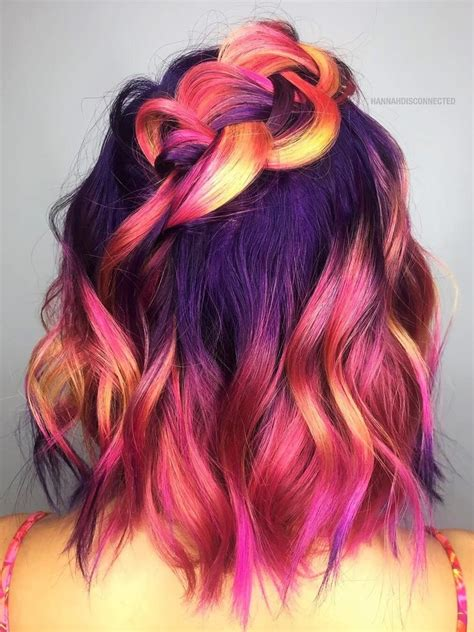 Colored Hairstyles by 32 Dyed Haircuts To Try Right Now Hair Dyed Hair