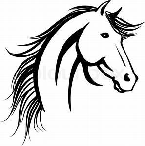 Pferdekopf Schwarz Weiß : pferdekopf vektorgrafik colourbox ~ Watch28wear.com Haus und Dekorationen