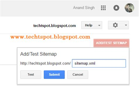Submit Blogger Sitemap Google Webmaster Tools