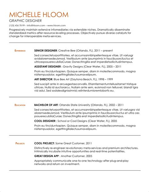 45 Free Modern Resume / CV Templates - Minimalist, Simple & Clean Design