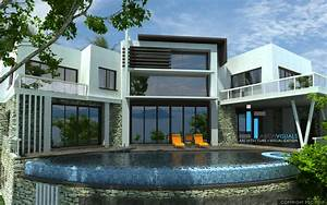 Large Ultra Modern House Plans