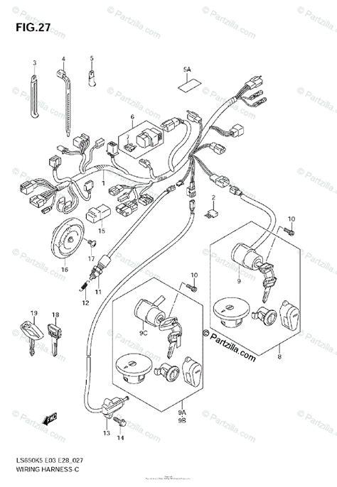 Suzuki Motorcycle Oem Parts Diagram For Wiring