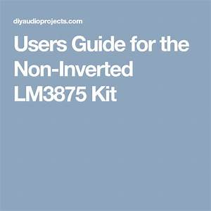 Users Guide For The Non