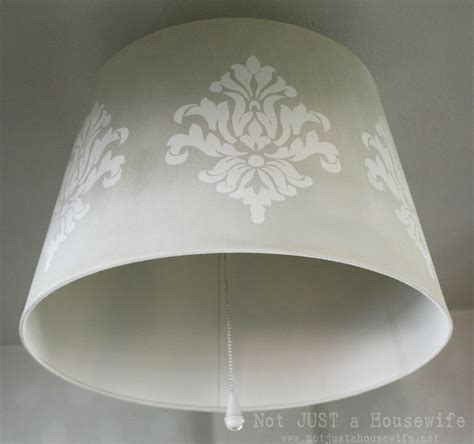 Stenciled Lamp Shade  Not Just A Housewife