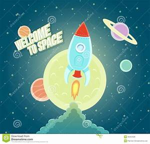 Space Rocket Ship Sky Icon Cartoon Modern Flat Design ...